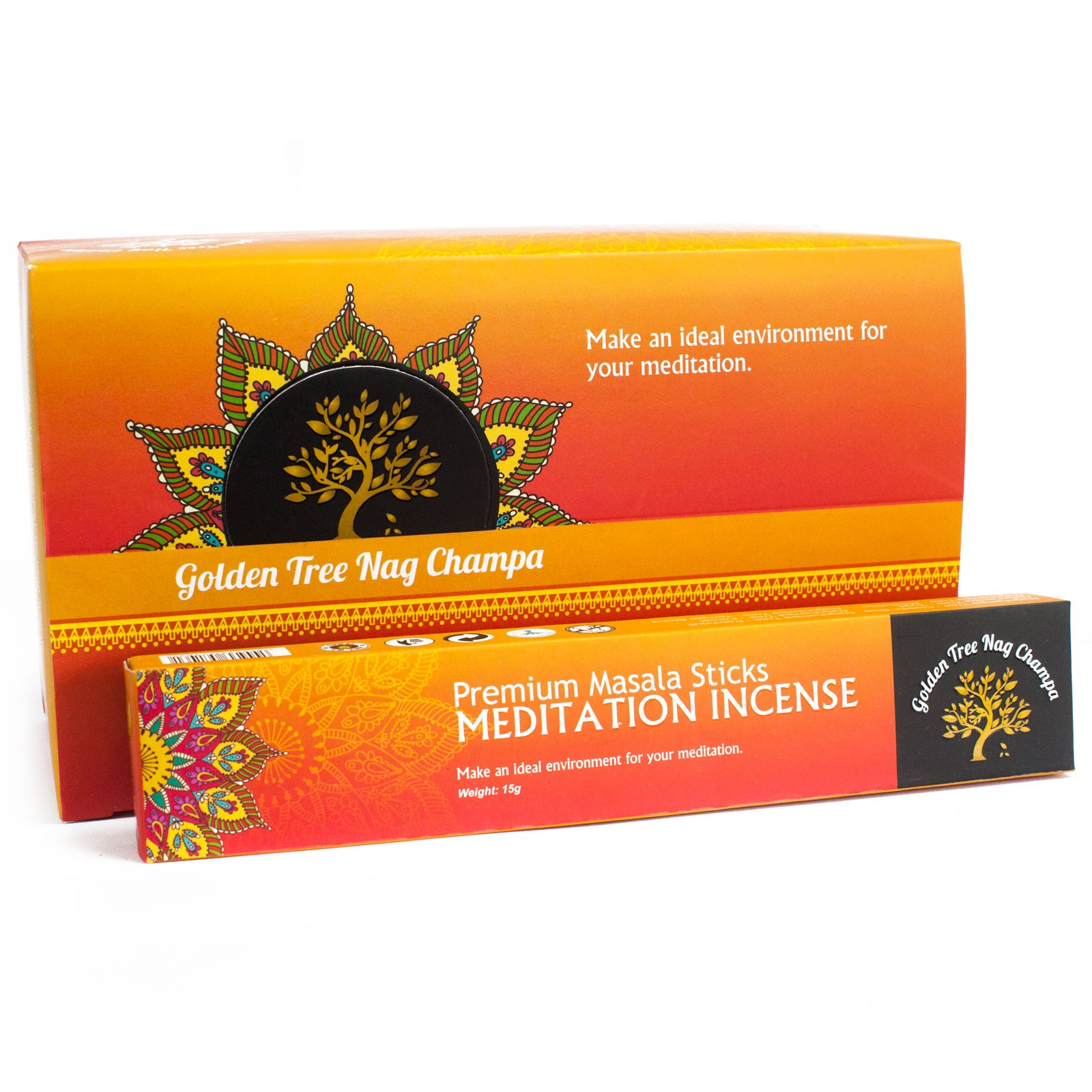 Golden Tree Nag Champa Incense - Meditation