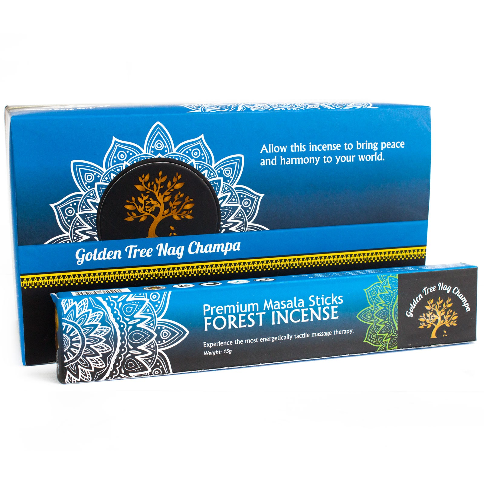 Golden Tree Nag Champa Incense - Forest Blend