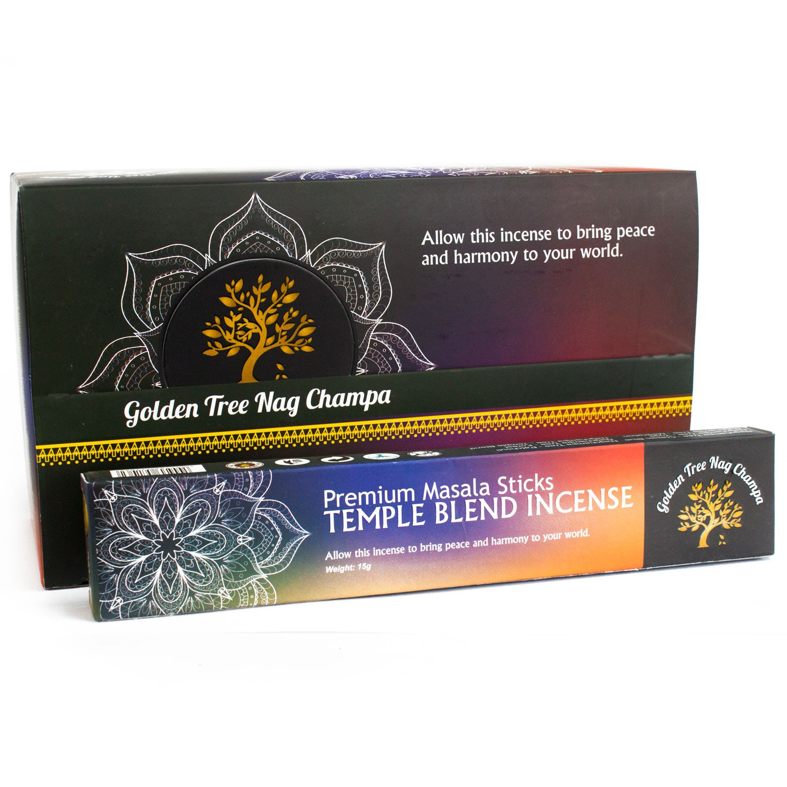 Golden Tree Nag Champa Incense - Temple Blend