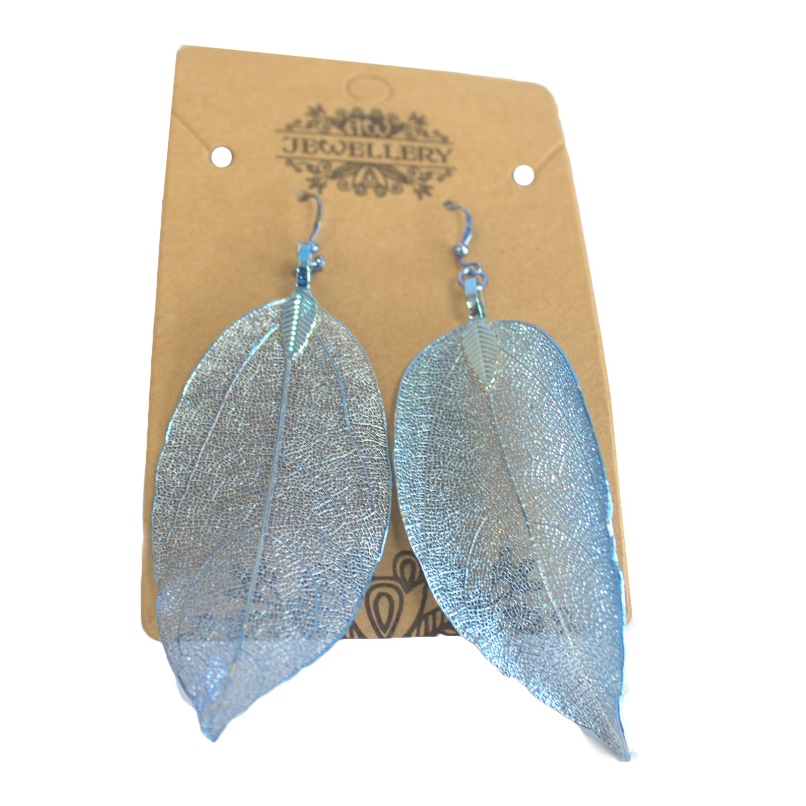 Earrings - Bravery Leaf - Blue