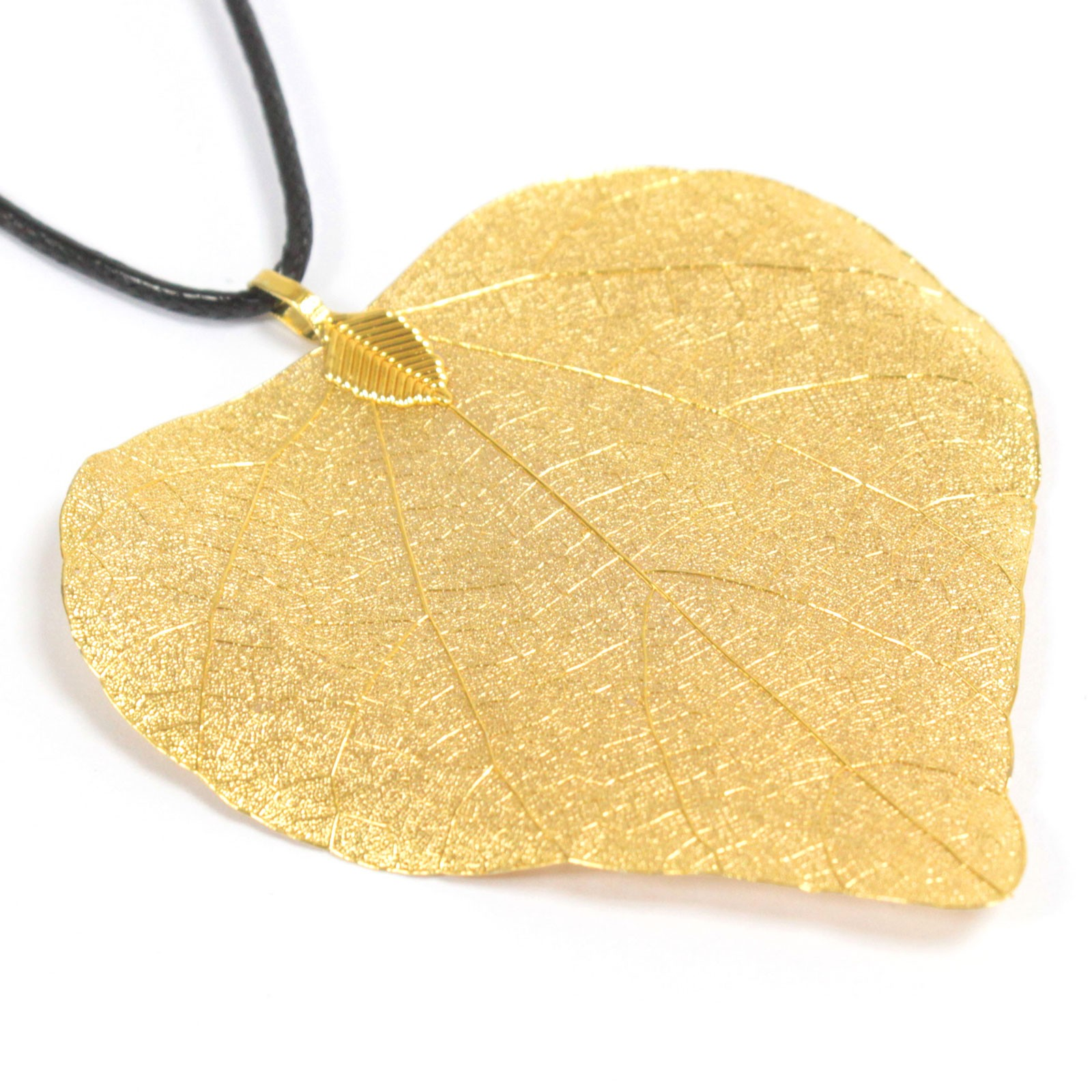 Necklace - Heart Leaf - Gold