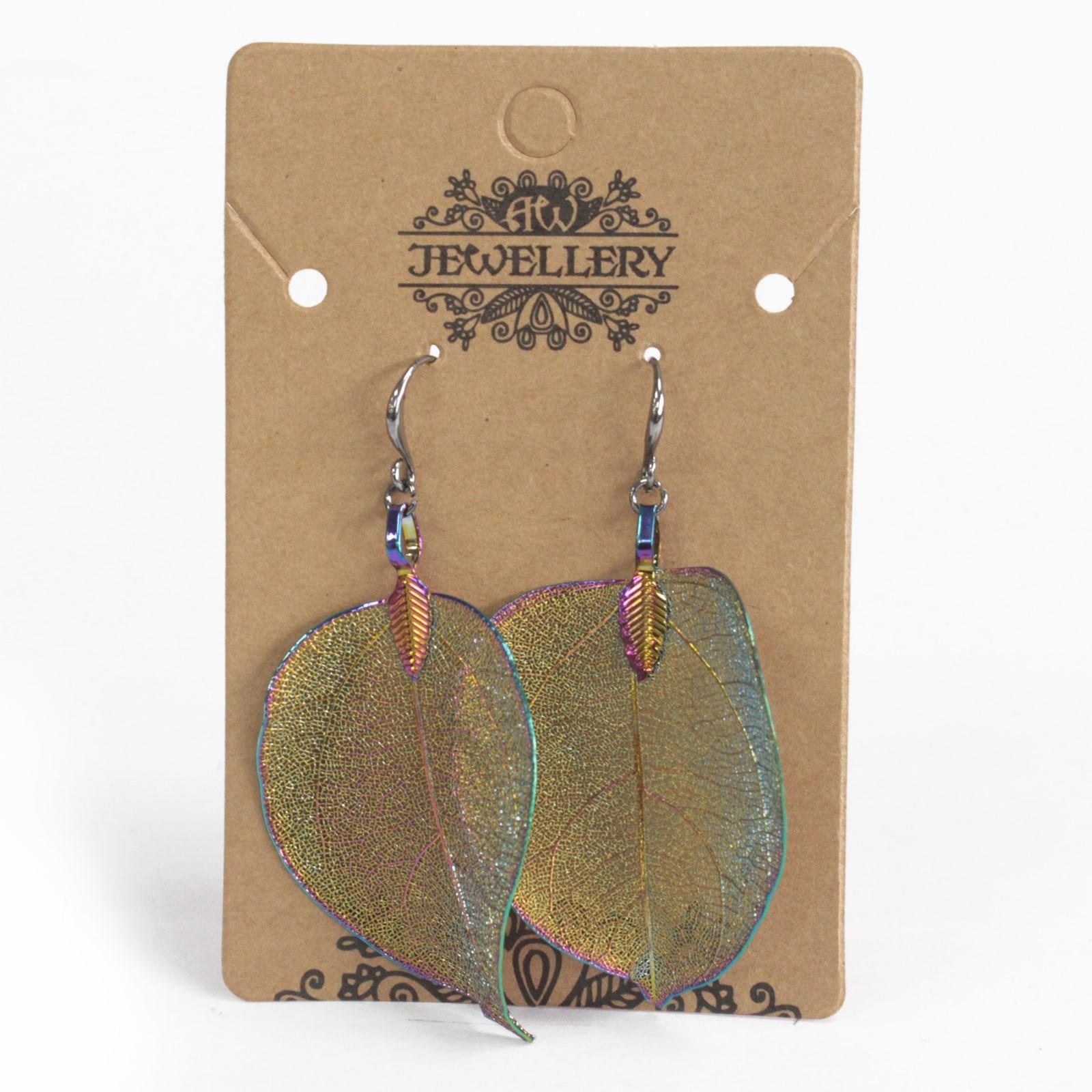 Earrings - Bravery Leaf - Multicoloured