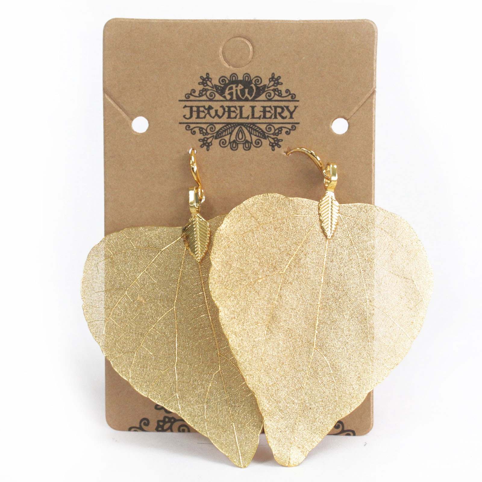 Earrings - Heart Leaf - Gold