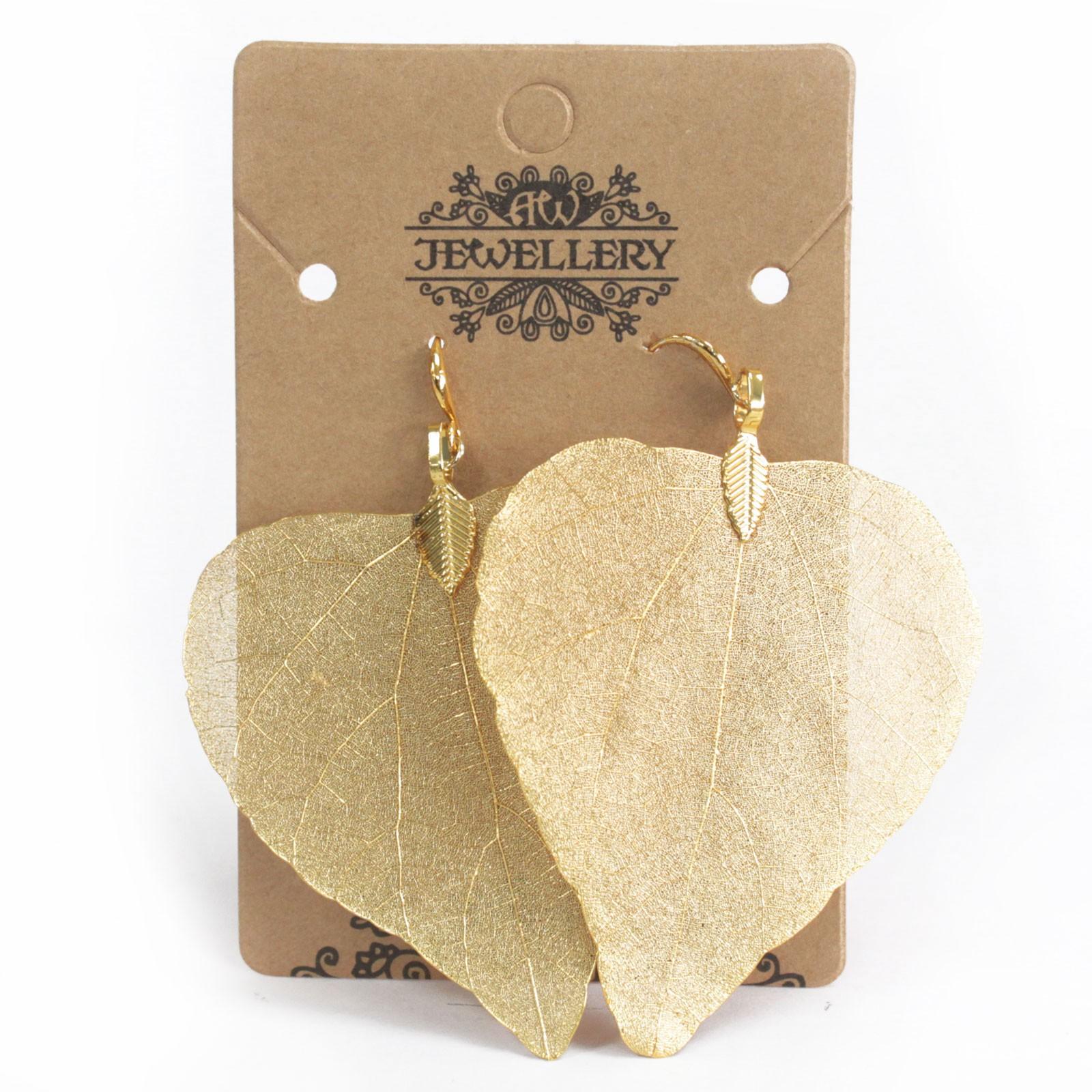 Earrings - Heart Leaf - Gold