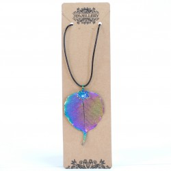 Lotus Leaf Rainbow Necklace