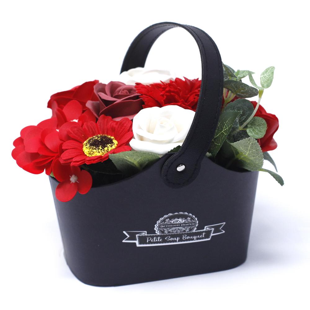 Bouquet Petite Basket - Rich Reds