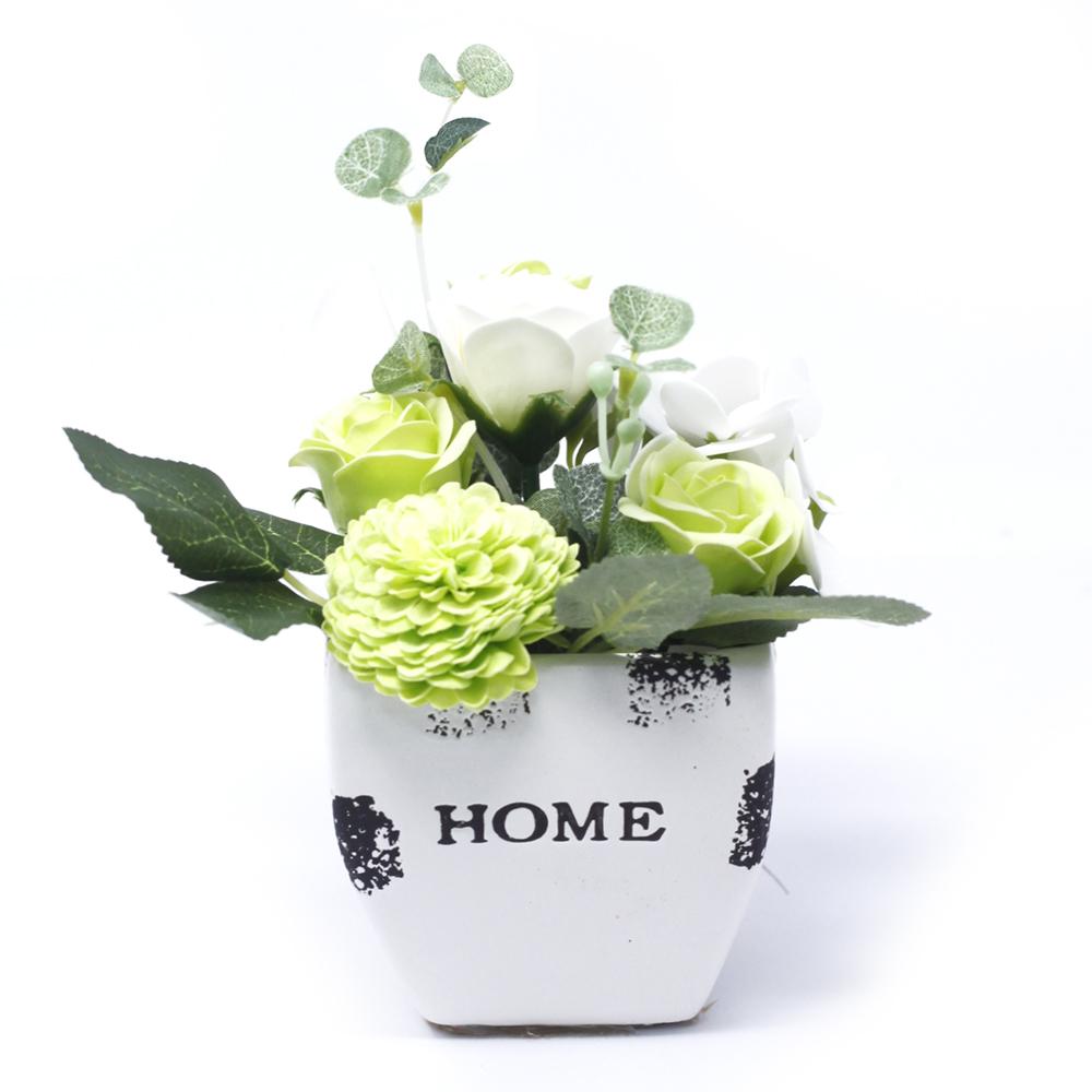 Bouquet Petite Flower Pot - Pastel Green