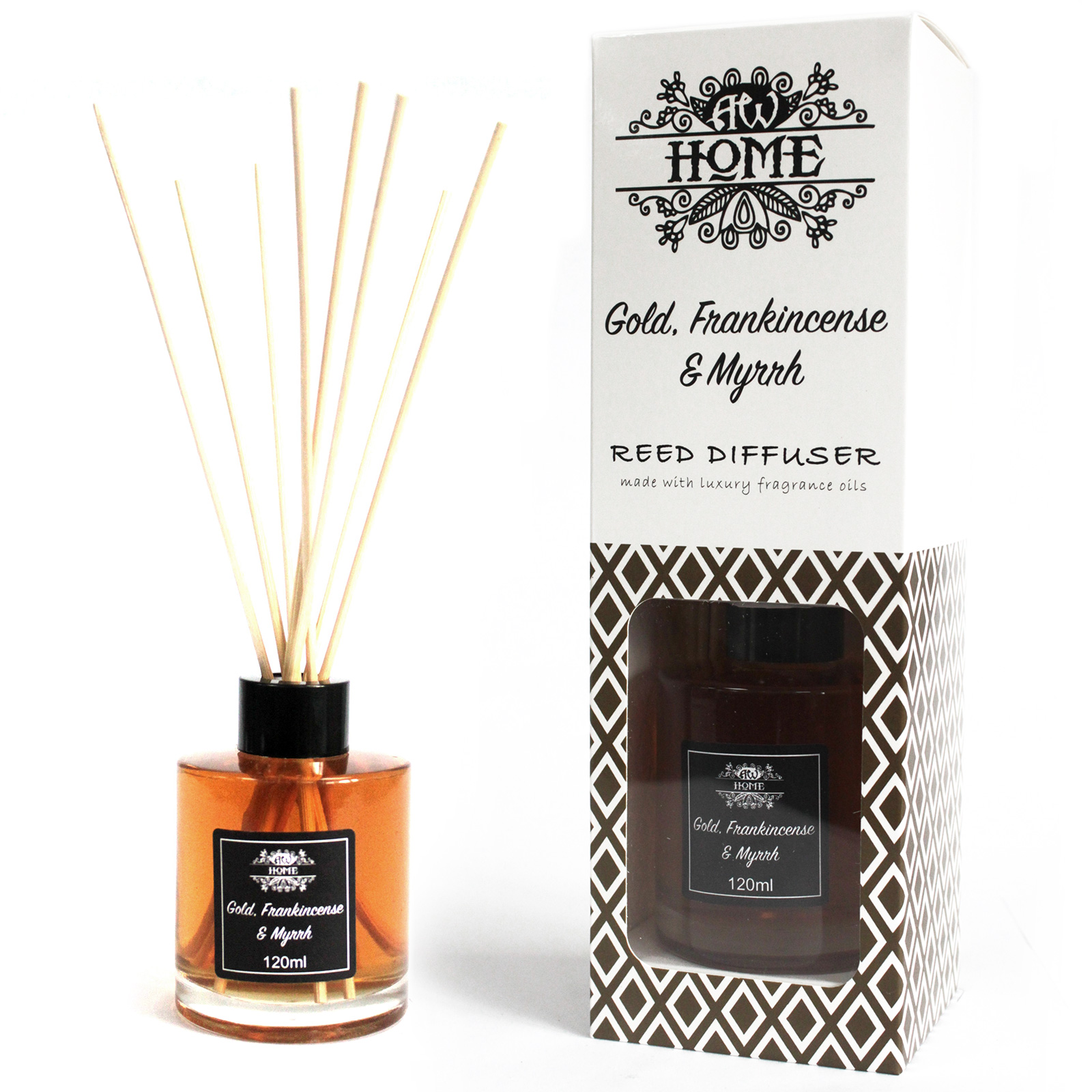 120ml Reed Diffuser - Gold, Frankincense & Myrrh