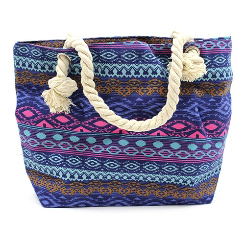 Rope Handle Bag - Bali Blues