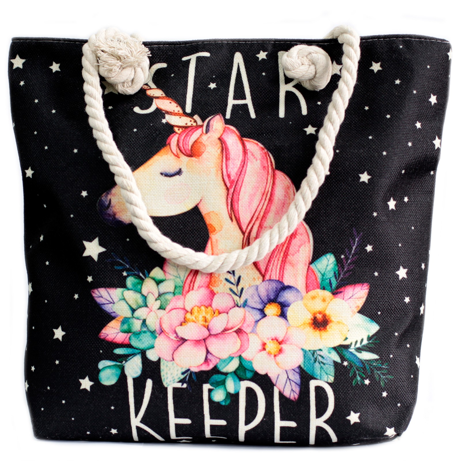 Rope Handle Bag - Star Unicorn Keeper
