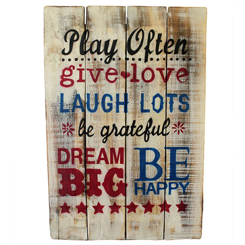 Rough Wooden Sign - Play Often