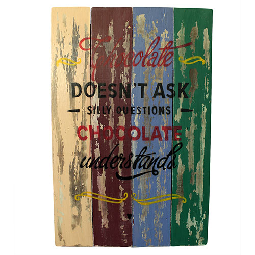 Rough Wooden Sign - Chocolate