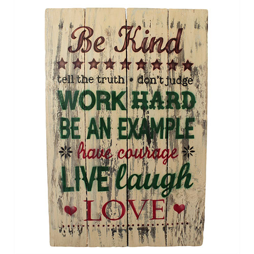 Rough Wooden Sign - Be Kind