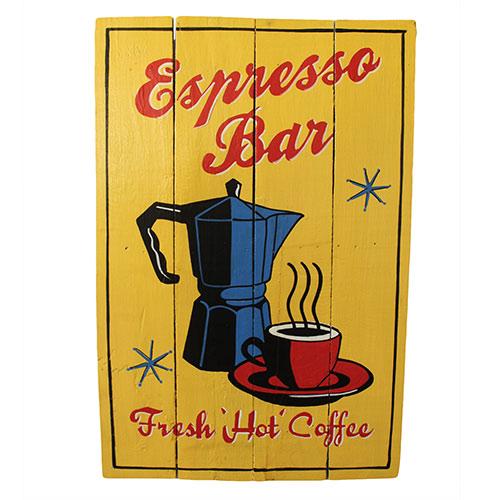 Rough Wooden Sign - Espresso Bar