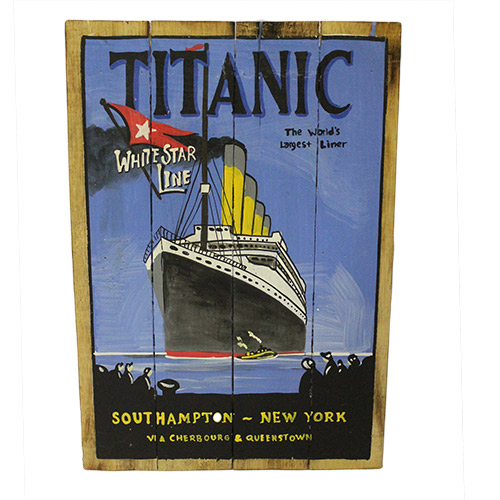 Rough Wooden Signs - Titanic