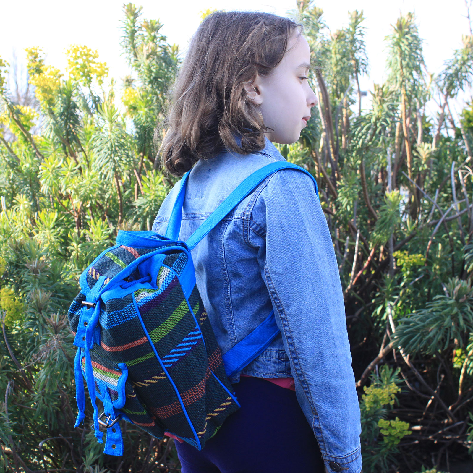 Small Nepali Backpacks - Blue