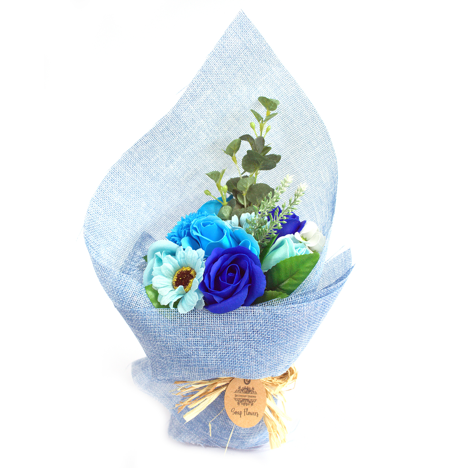 Standing Soap Flower Bouquet -Blue
