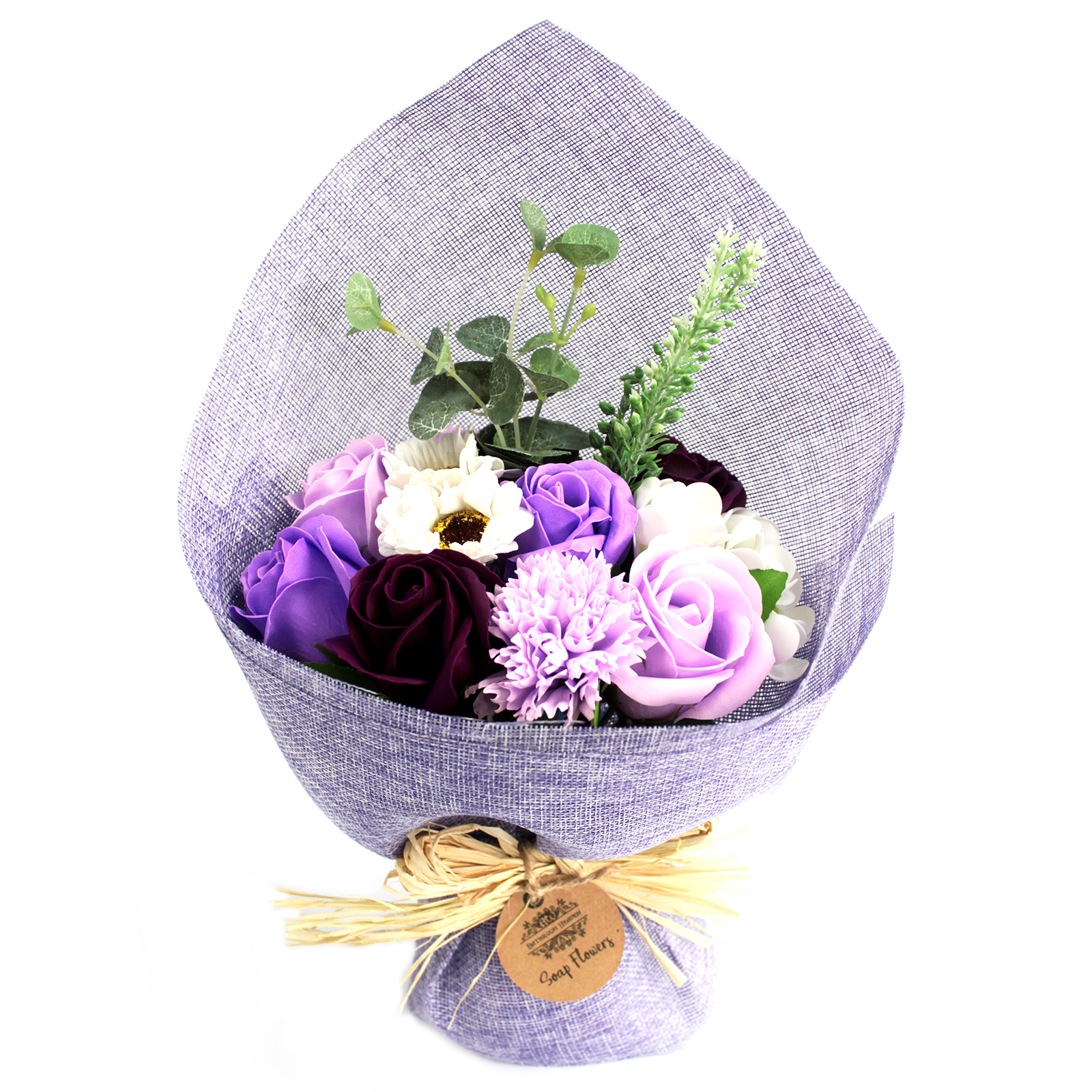 Standing Soap Flower Bouquet - Purple
