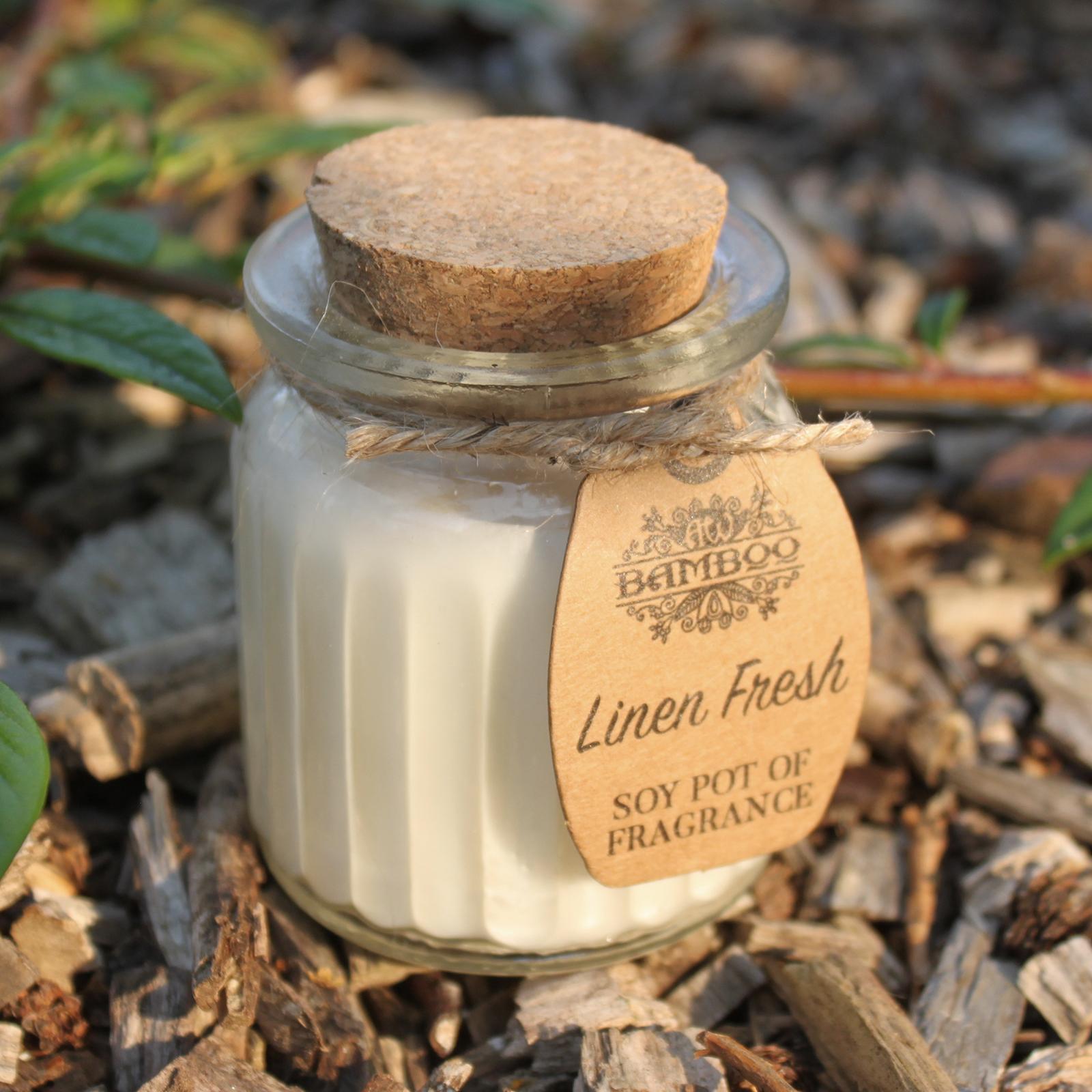 2x Linen Fresh Soy Pot of Fragrance Candles