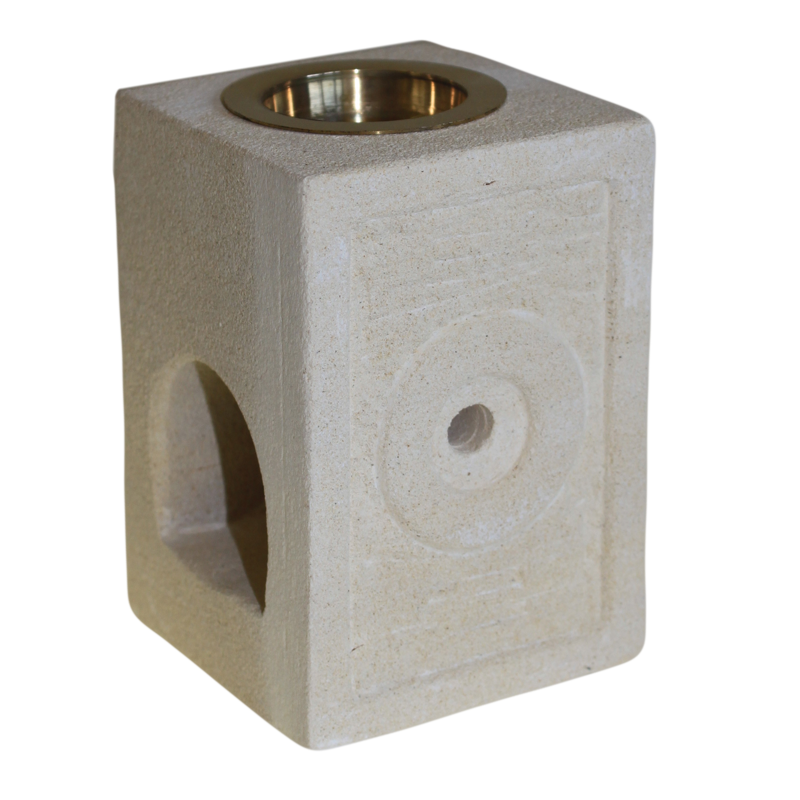 Stone Oil Burner - Square Moorish