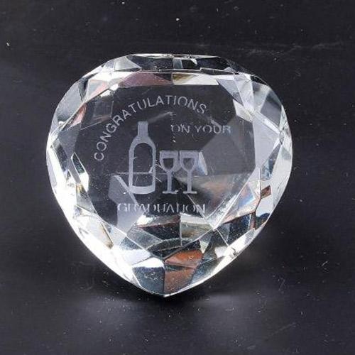 Graduation Clear Crystal Heart