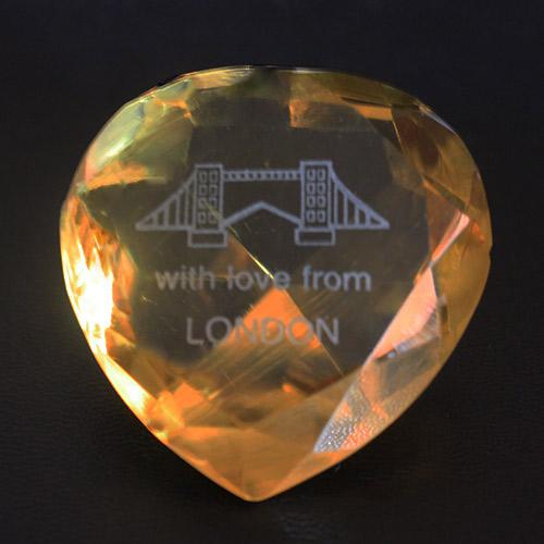 London Bridge - Yellow Crystal Heart