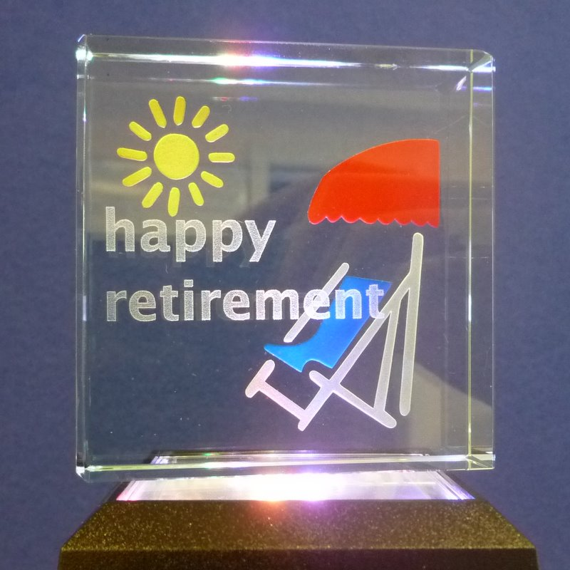Message Block - Happy Retirement