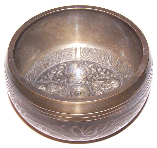 Lrg Five Buddha Singing Bowl
