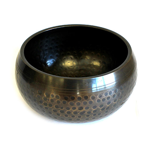 Medium Black Beaten Bowl - 14cm