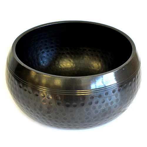 Large Black Beaten Bowl - 18cm