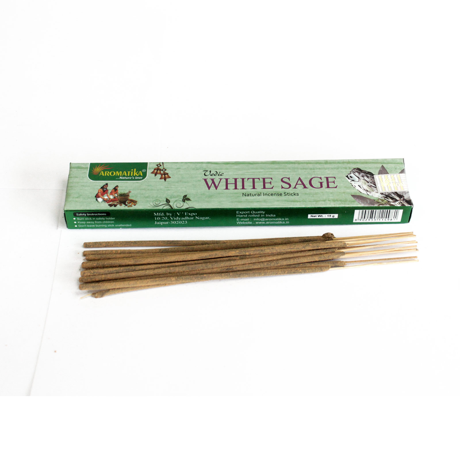 Vedic -Incense Sticks - White Sage