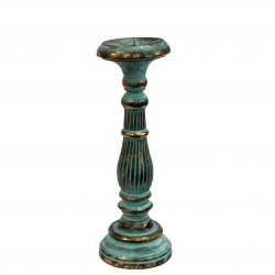 Medium Candle Stand - Turquoise & Gold
