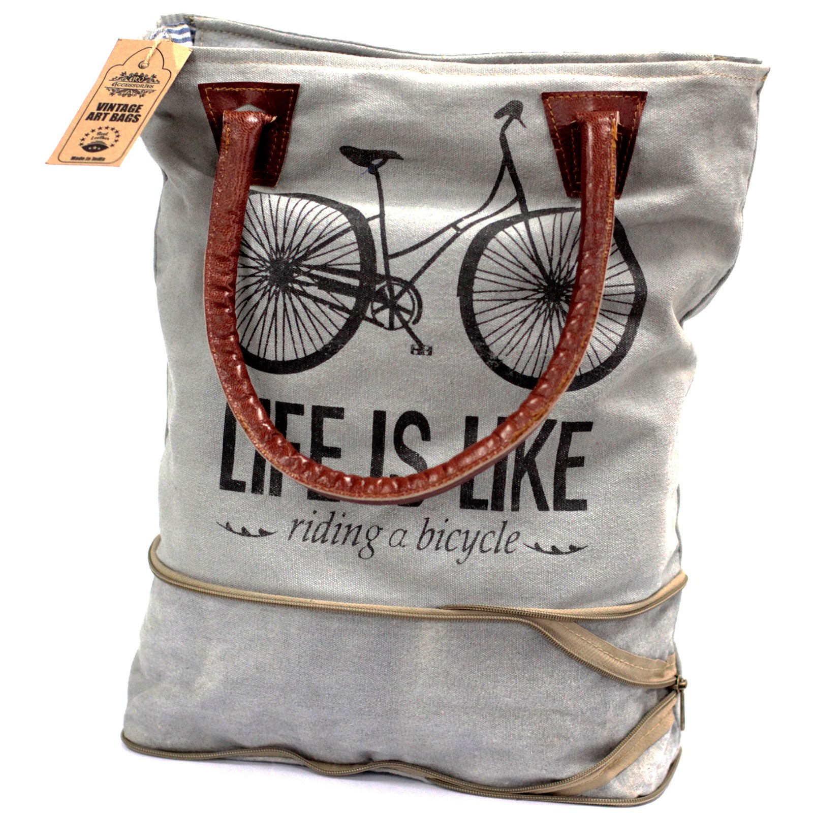 Vintage Bag - Bicycle-Expandable