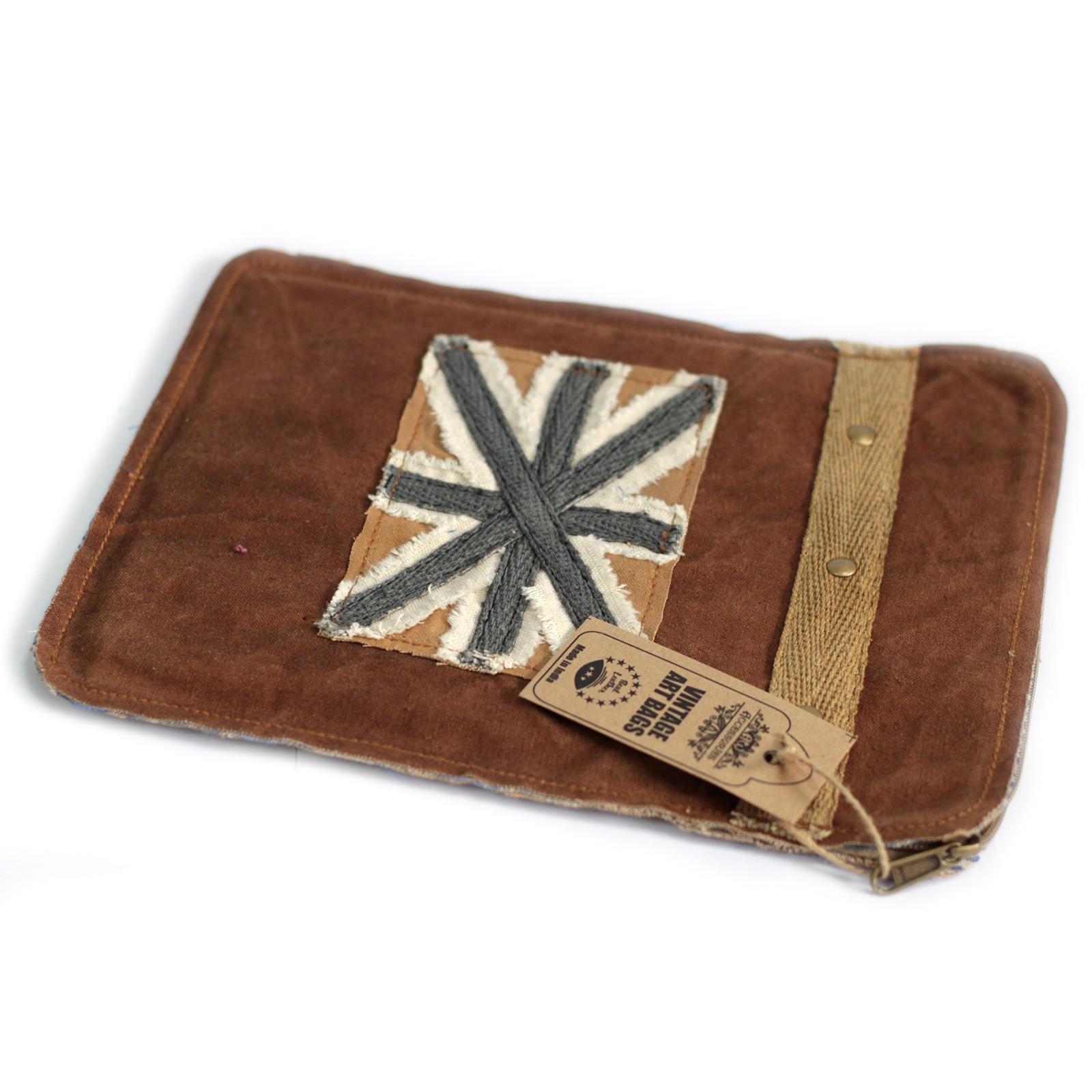 Vintage Bag - Tablet Pouch-Shabby Flag
