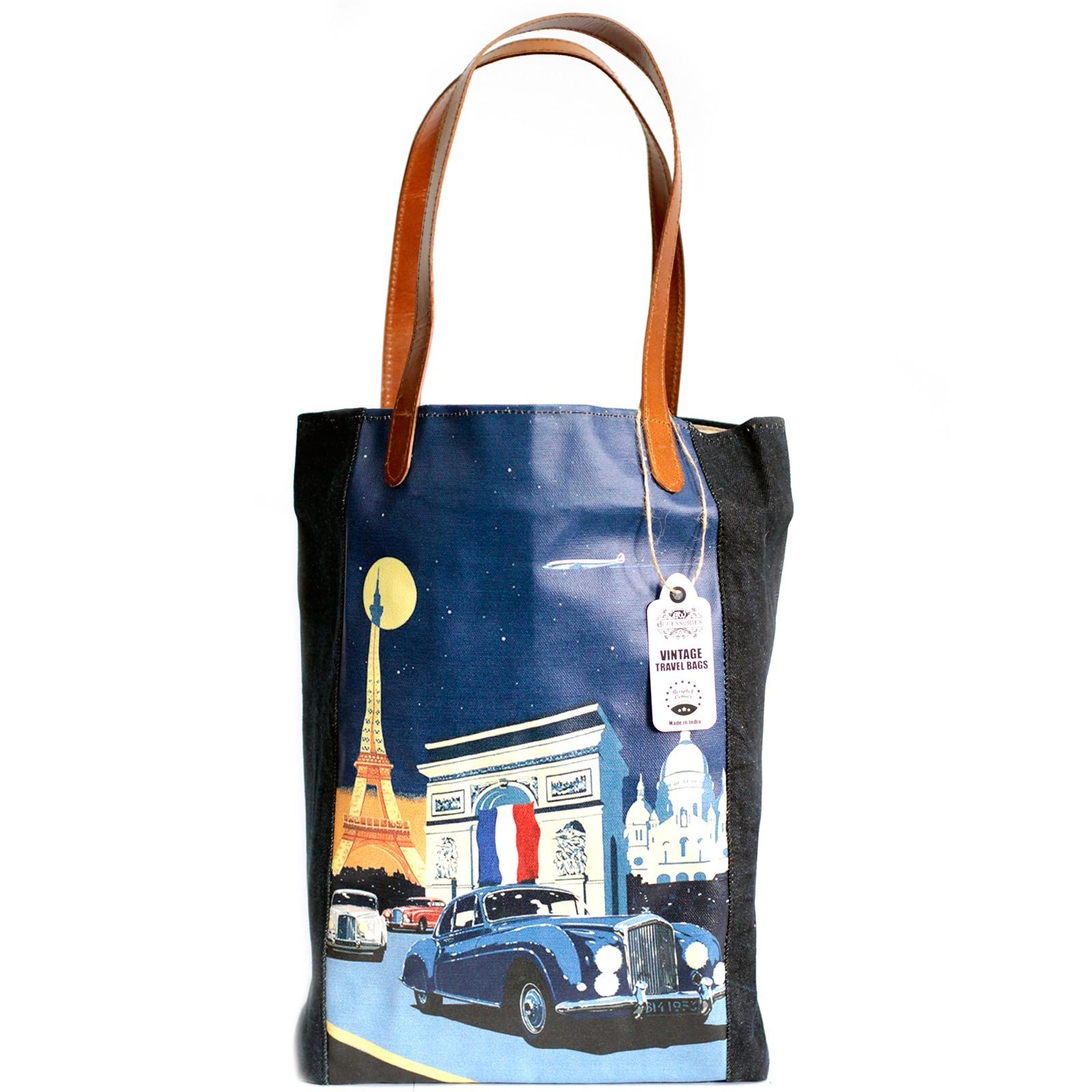 Vintage Travel Bag - Paris