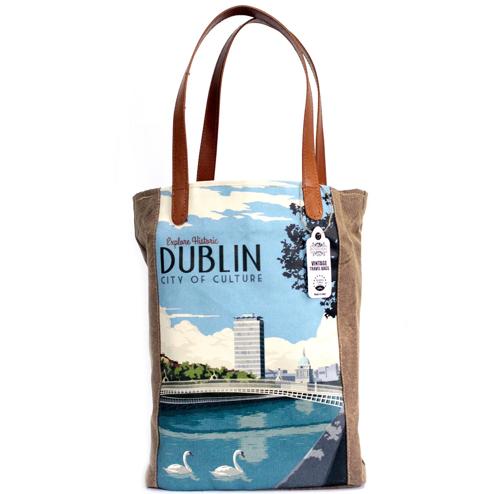 Vintage Travel Bag - Dublin