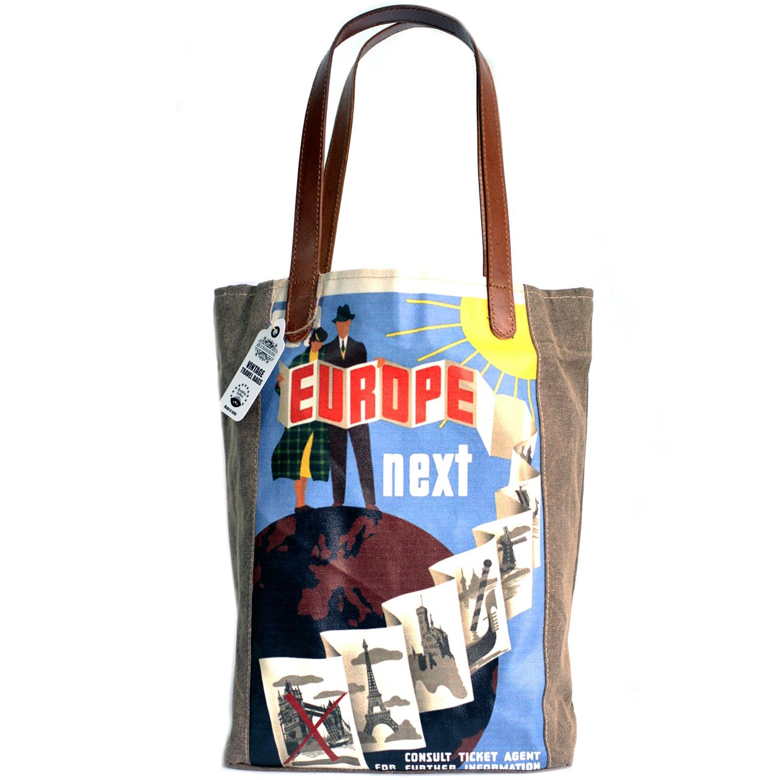 Vintage Travel Bag - Europe