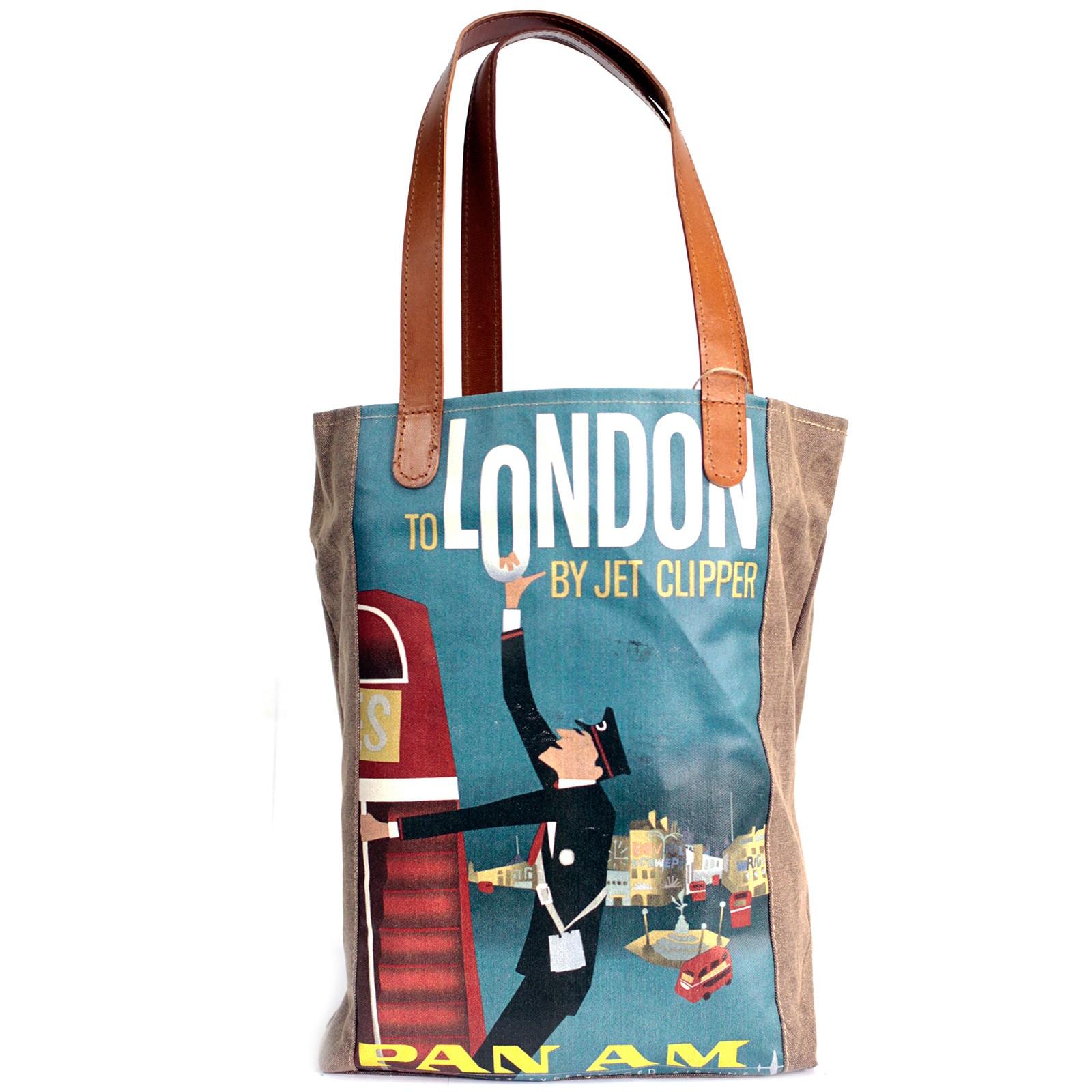Vintage Travel Bag - London