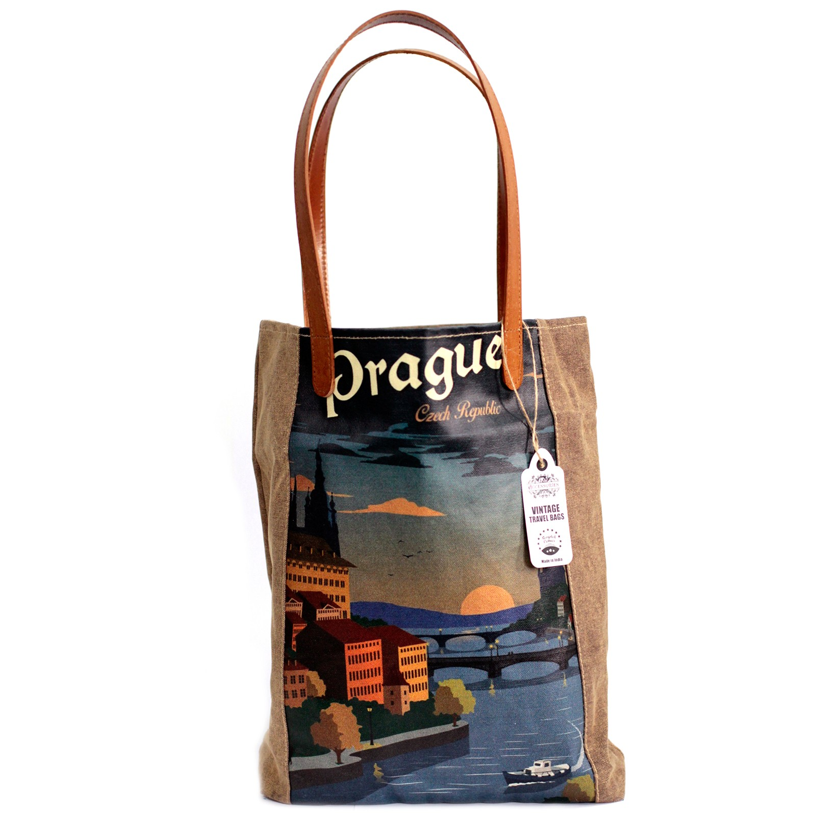 Vintage Travel Bag - Prague