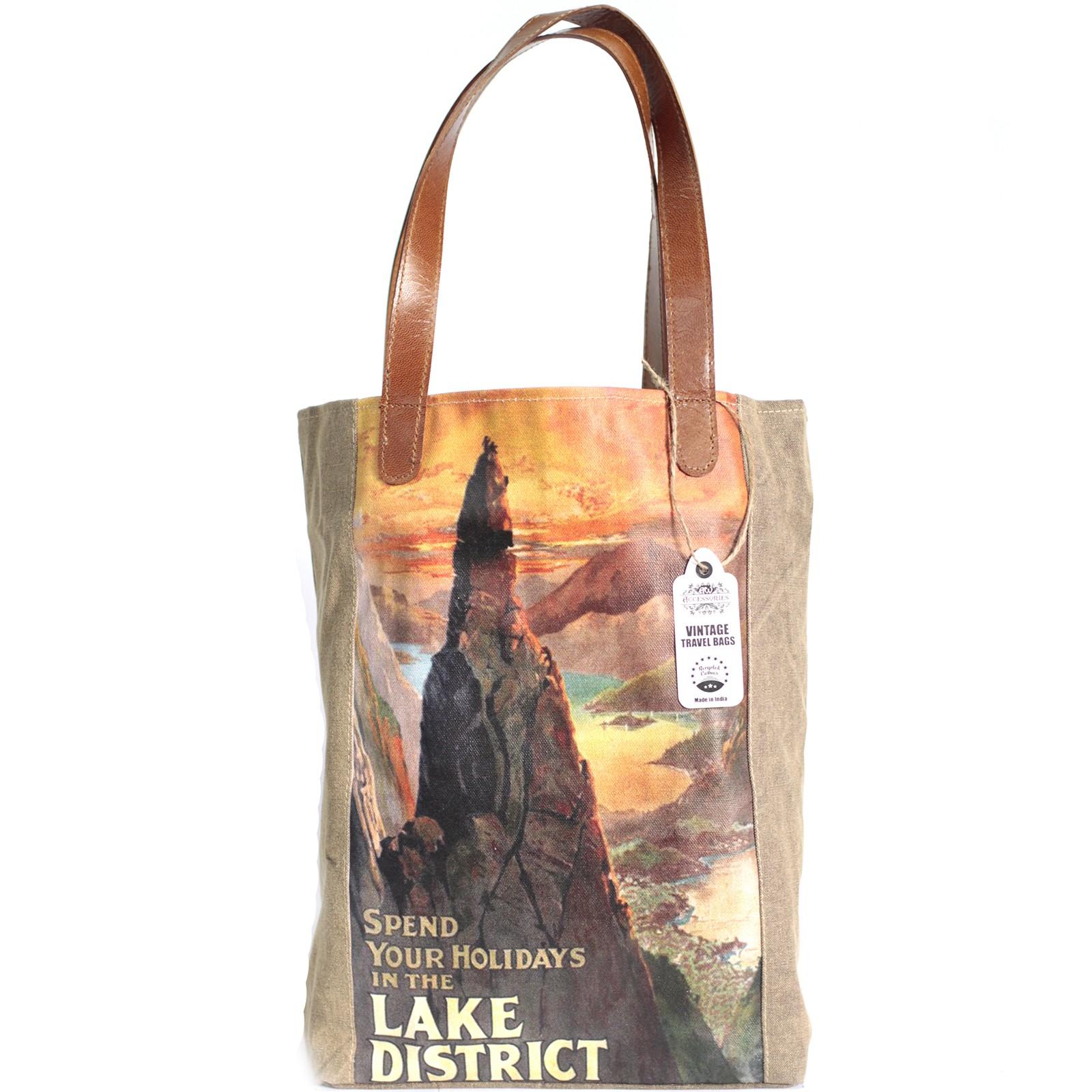 Vintage Travel Bag - Lake District