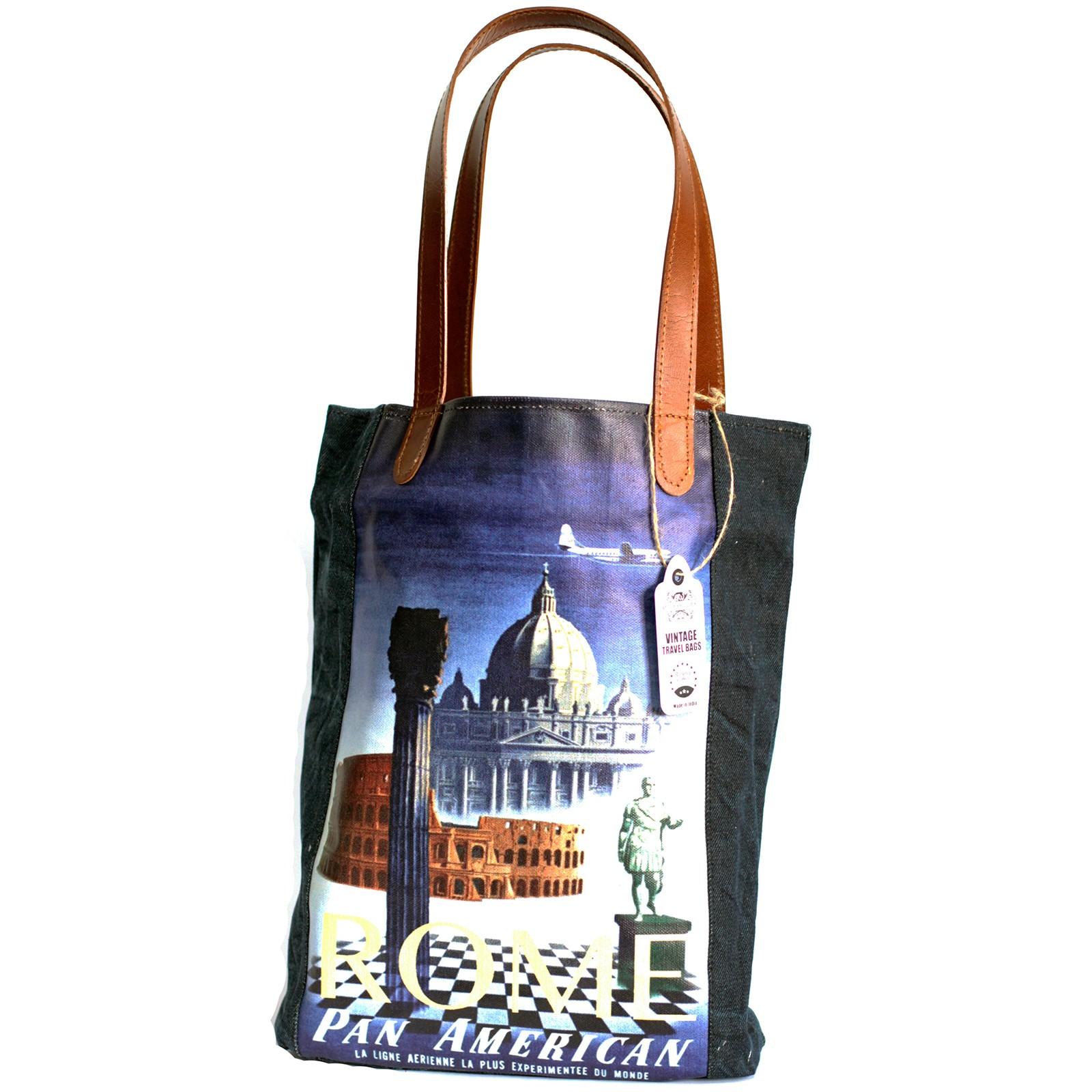 Vintage Travel Bag - Rome