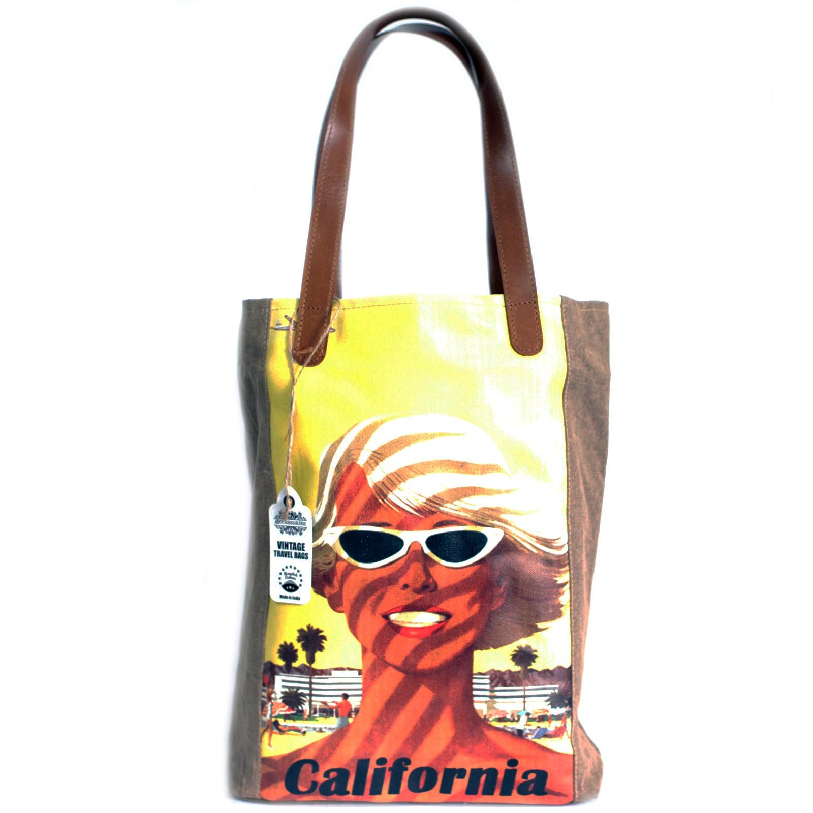 Vintage Travel Bag - California