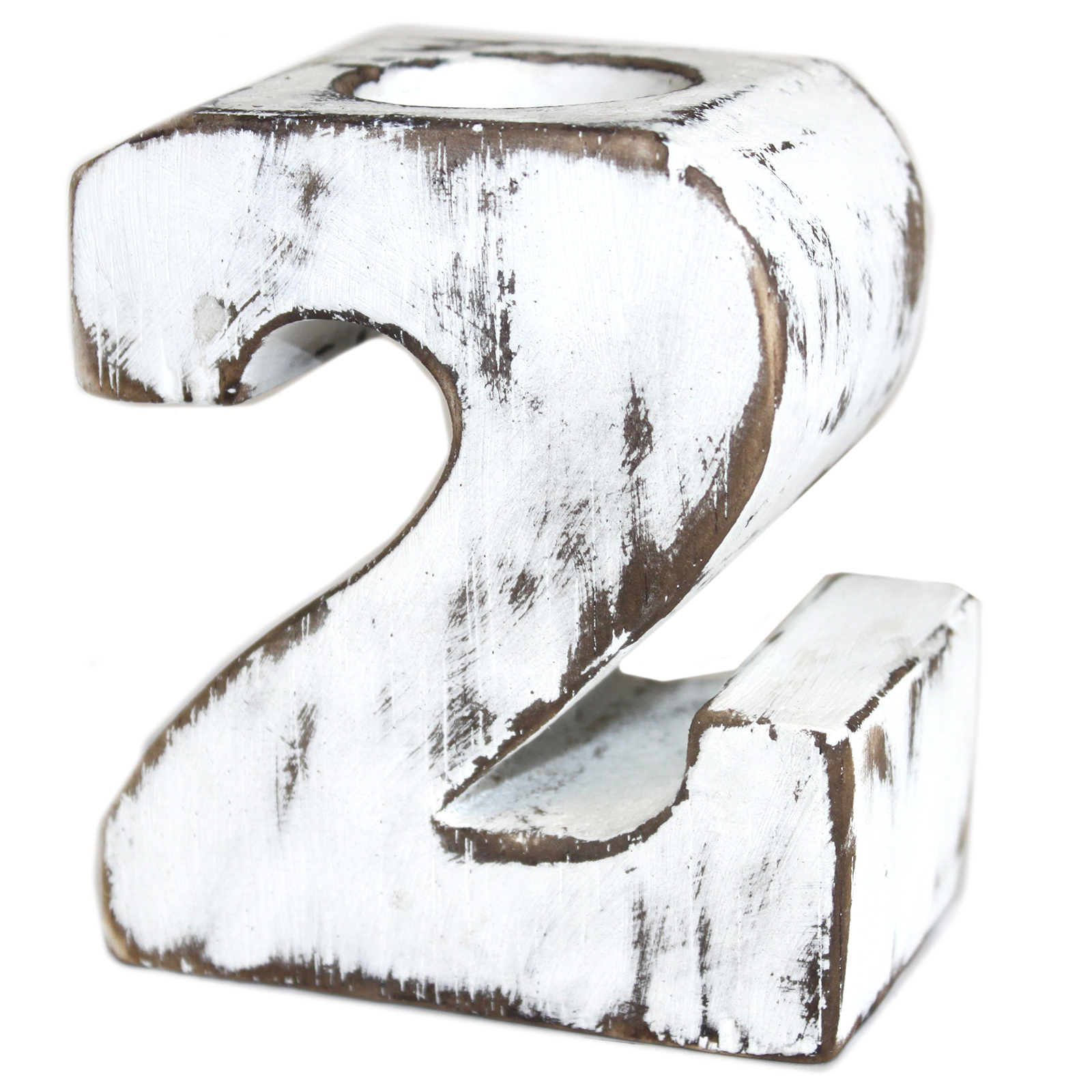 Wooden Birthday Number Candle Holder - No. 2