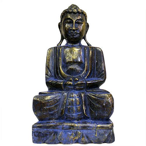 Blue Golden Buddha Statue - 40 cm