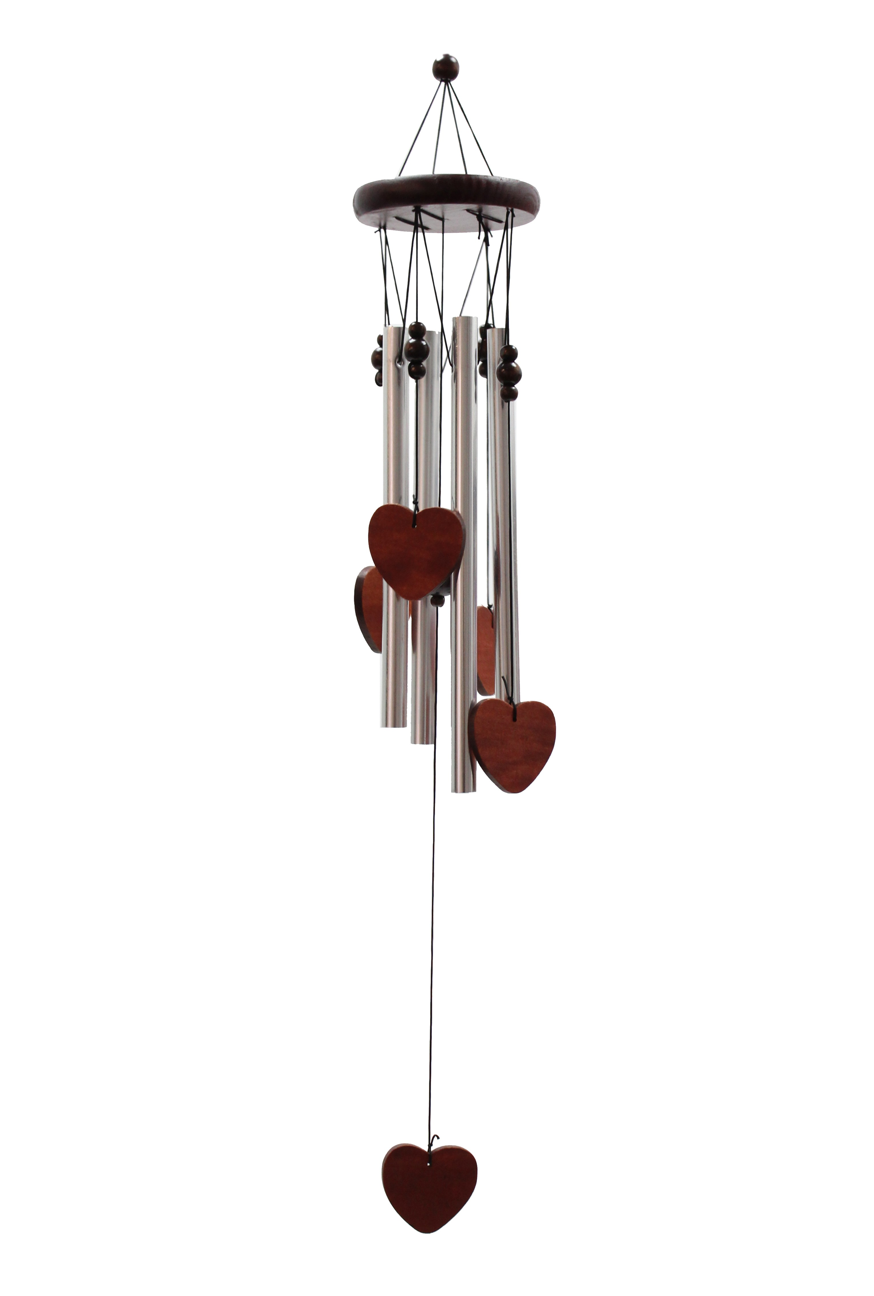 Classic Wood and Tube Chime - Hearts