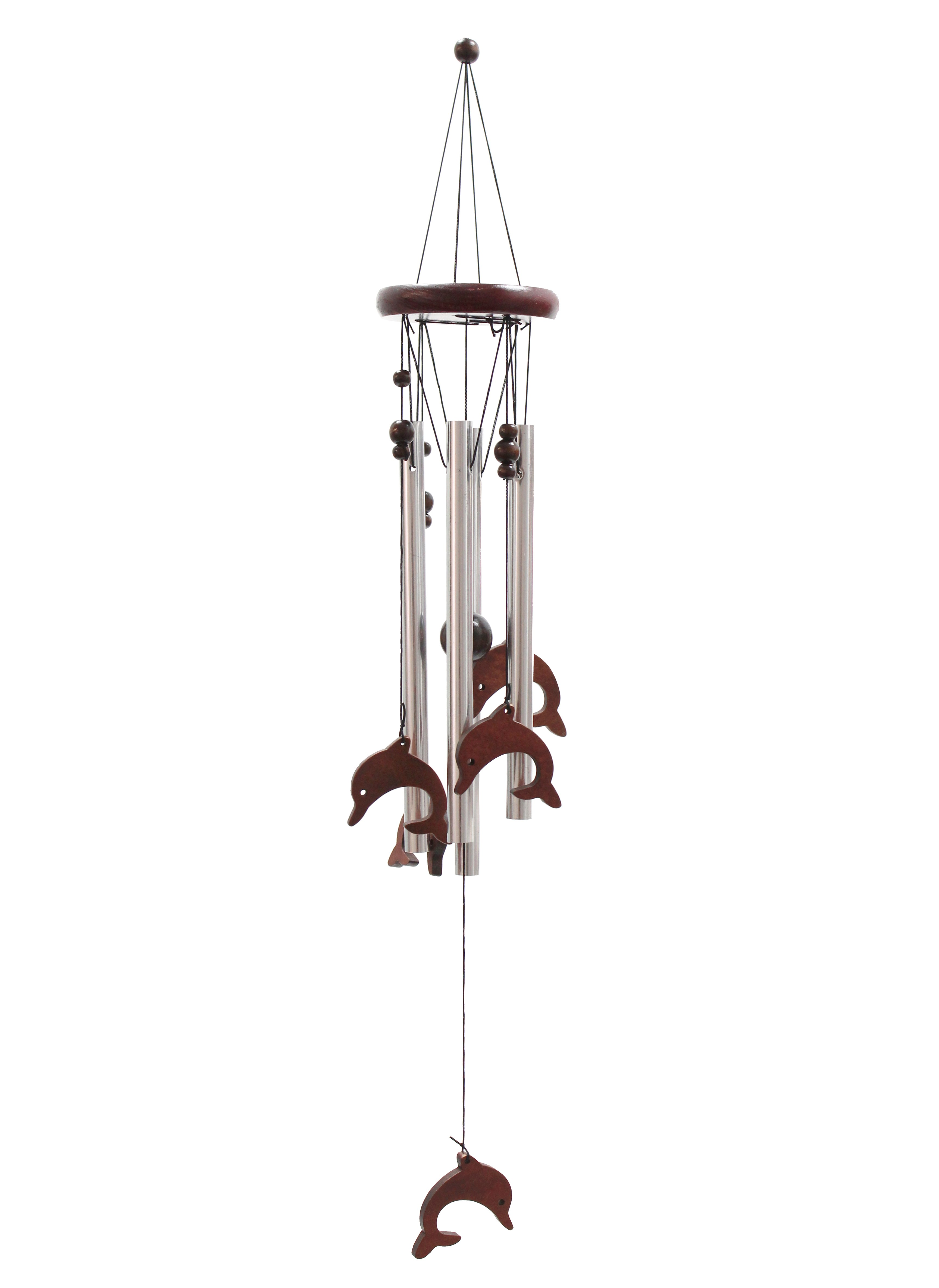 Classic Wood and Tube Chime - Dolphins