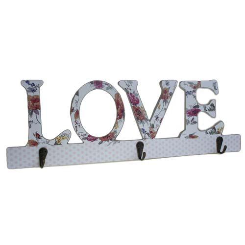 Wooden Coat Hanger - LOVE Decor