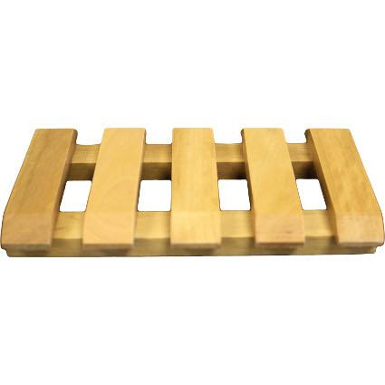 Hemu Wood Soap Dish - Slotted