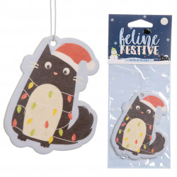 6x Festive Feline Lights Cat Nutmeg Air Freshener