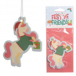 6x Christmas Unicorn Festive Friends Cookie Air Freshener